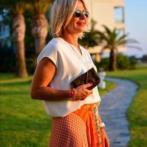 NWT Zara floral print pleated skirt